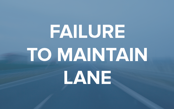 failure to maintain lane